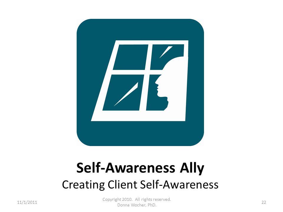 Self-Awareness Ally Creating Client Self-Awareness 11/1/201122 Copyright 2010.