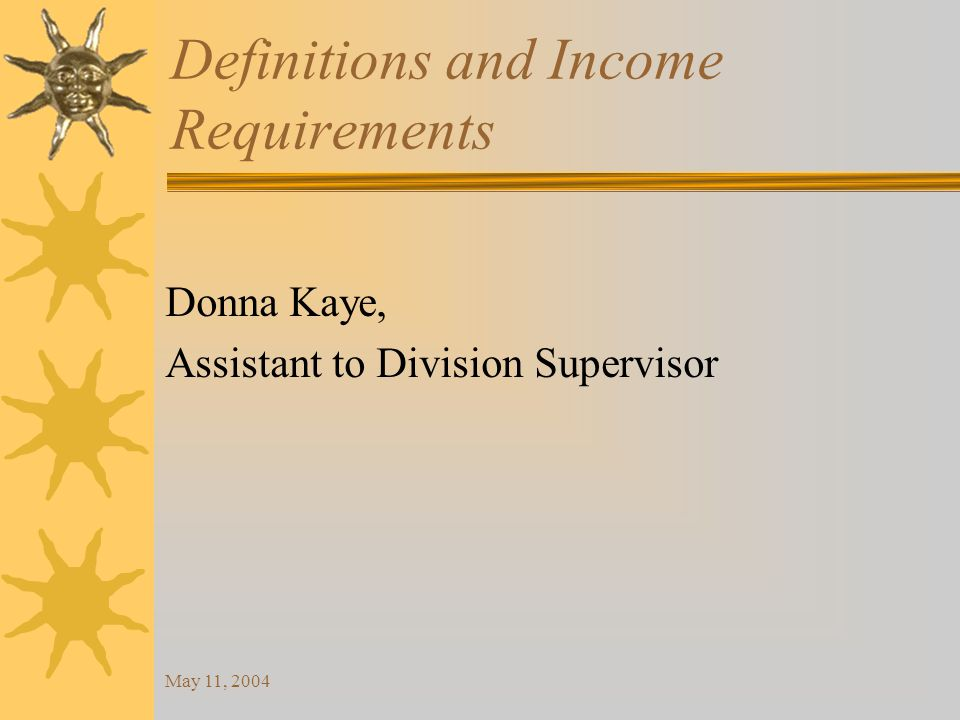 May 11, 2004 Monthly Gross Income 15% of monthly gross income is the limit for the total repayable on a small loan.