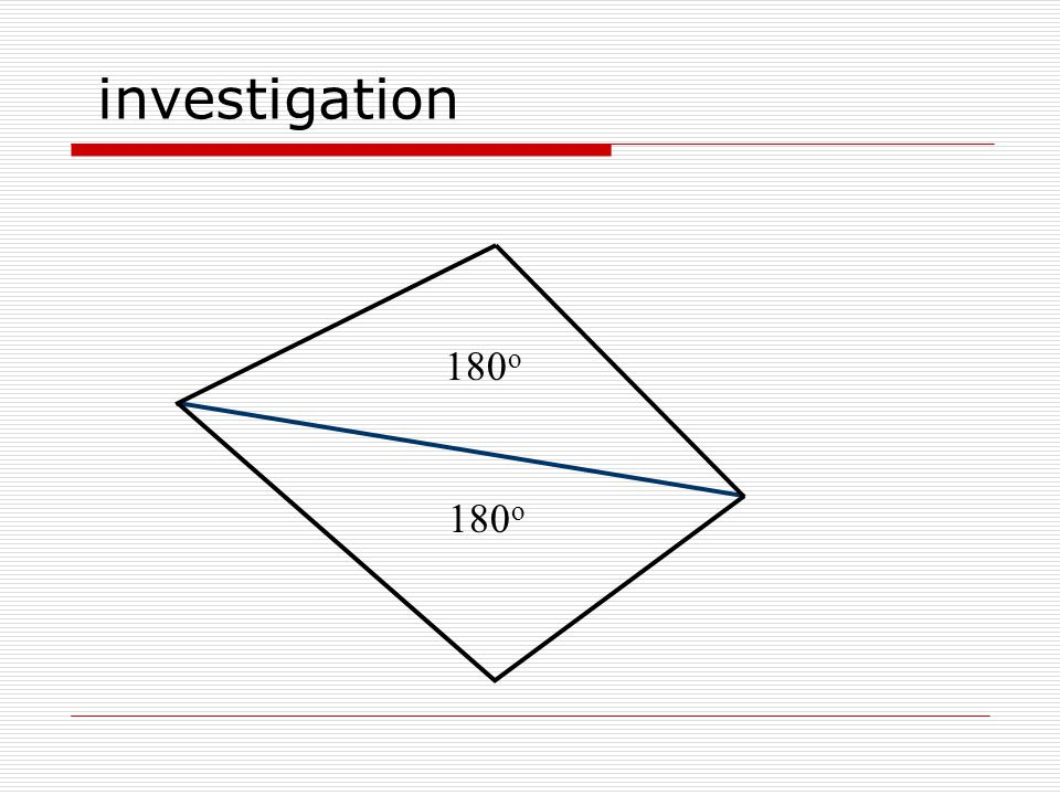investigation 180 o