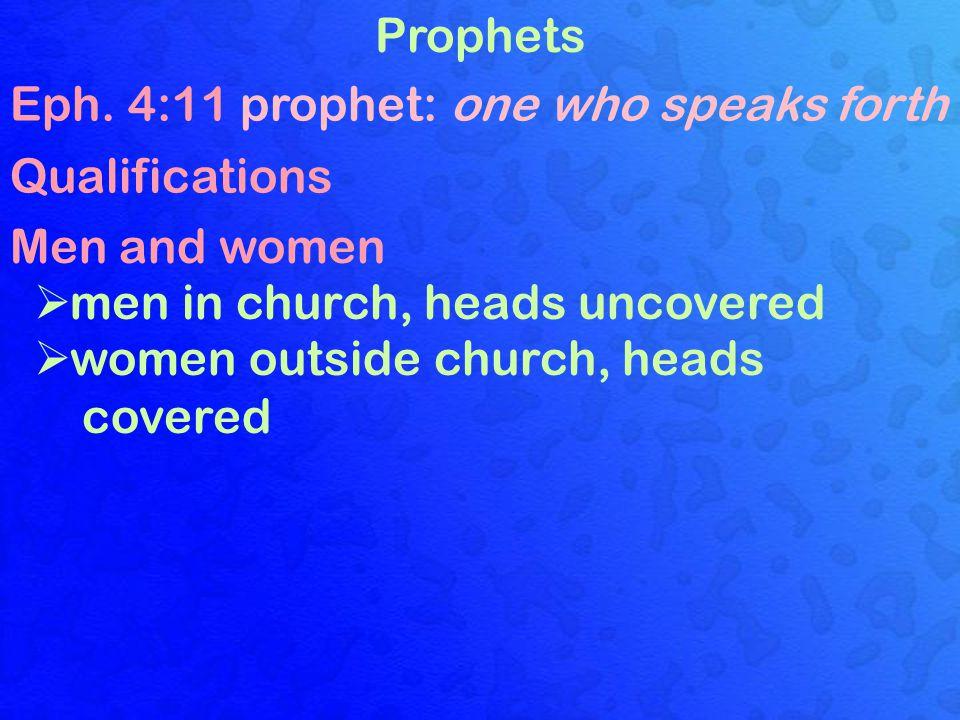 Prophets Eph.