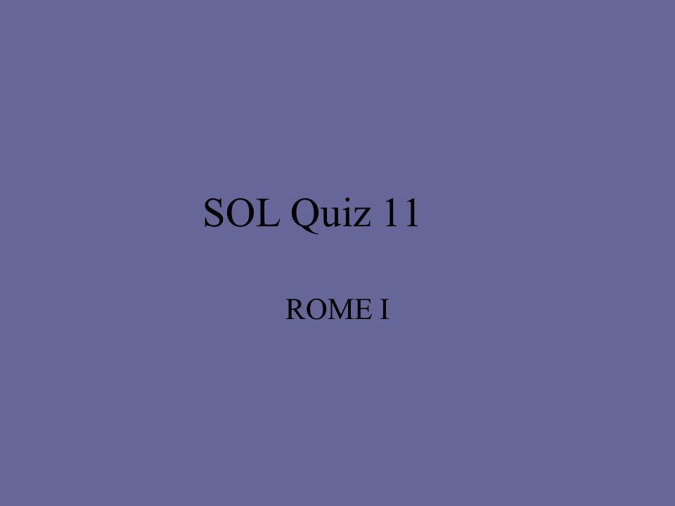 SOL Quiz 11 ROME I