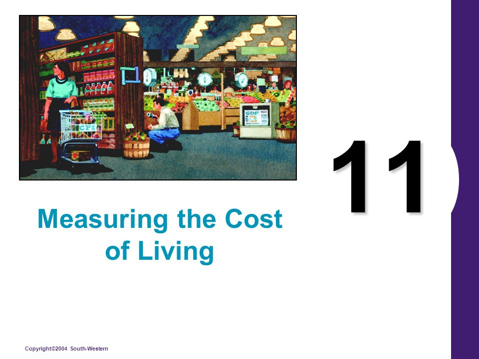 Copyright©2004 South-Western 11 Measuring the Cost of Living