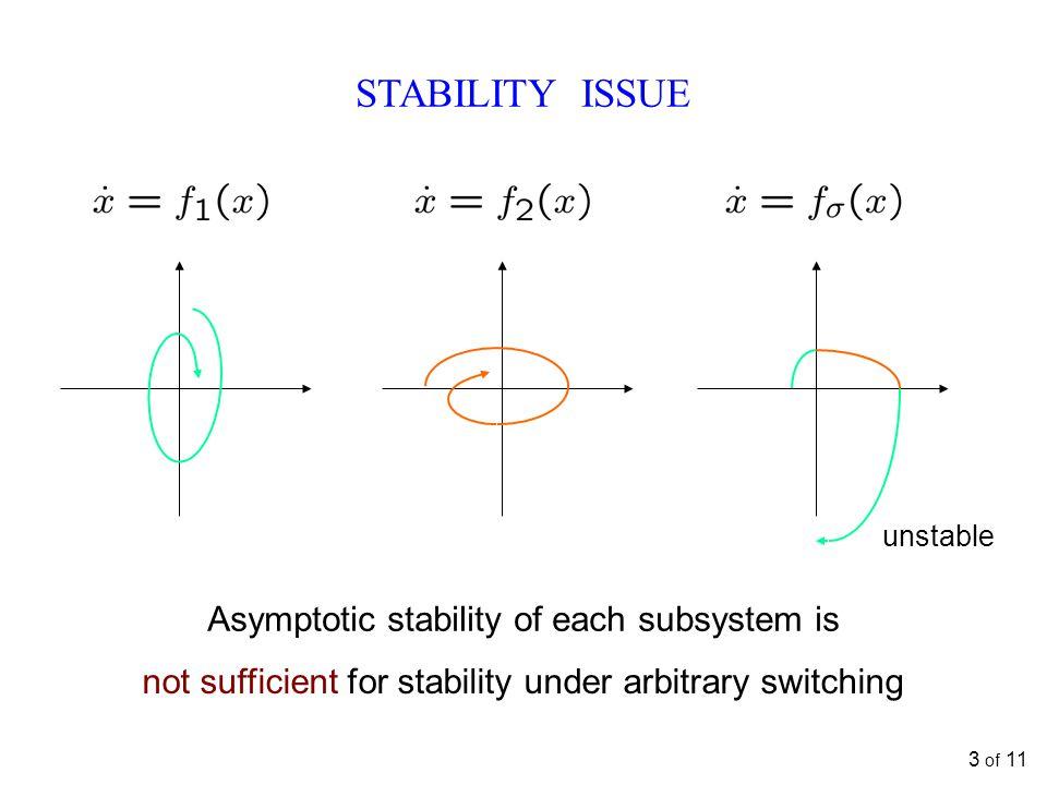 KNOWN RESULTS: LINEAR SYSTEMS Lie algebra w.r.t.