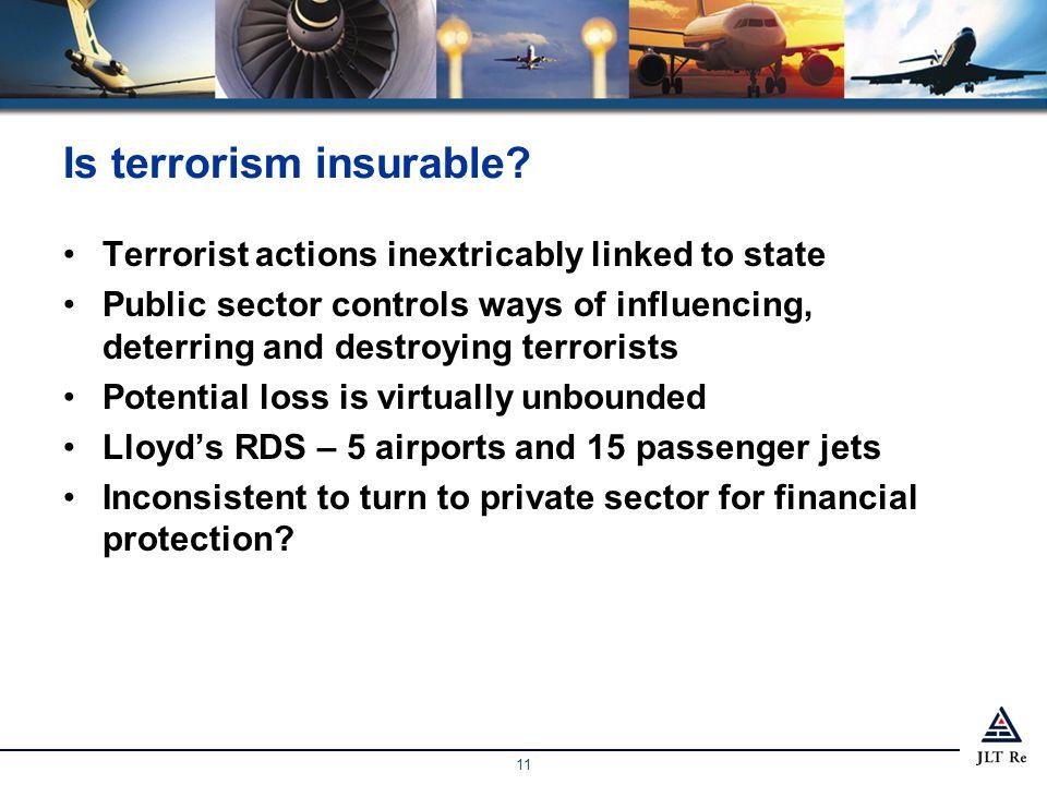 11 Is terrorism insurable.