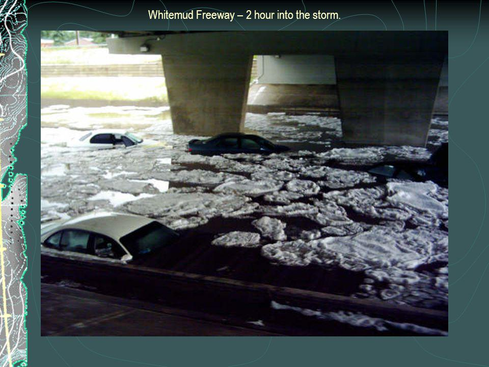 Whitemud Freeway – 2 hour into the storm.