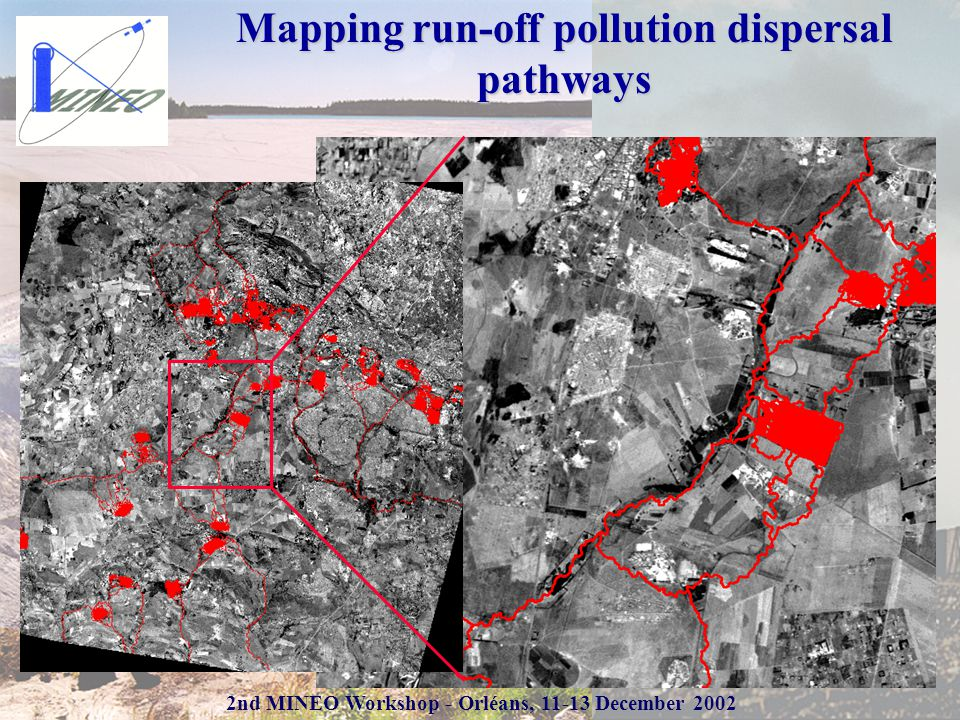 2nd MINEO Workshop - Orléans, 11-13 December 2002 Mapping run-off pollution dispersal pathways