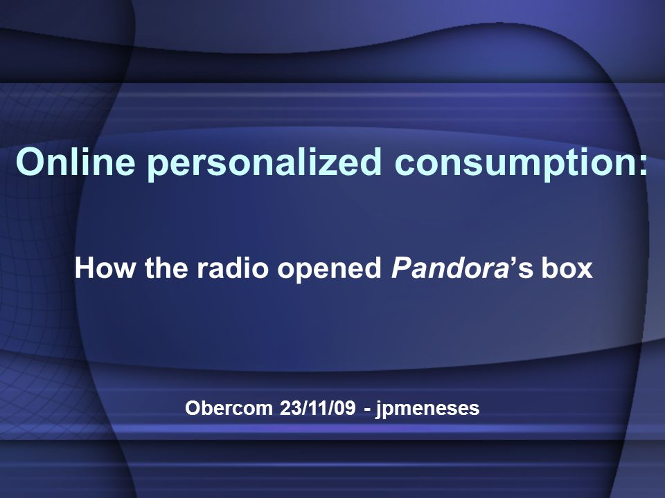 Music in portuguese radio: around 80% Obercom 23/11/09 - jpmeneses - Music in USA radio: 88% are music radios; - «The majority of stations in Britain follow a very similar format dominated by music» (Fleming, 2002: 6); - Music in Spanish radio: less than 50%; How the radio opened Pandora's box