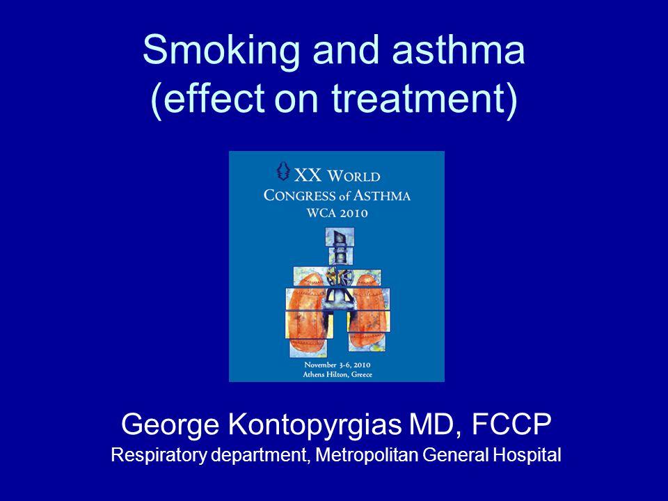 Corticosteroid insensitivity C) Reduced histone deacetylase 2 (HDAC2) activity Smoking  oxidative stress  ↓ HDAC2 activity  ↓antiinflammatory activity of GCS Barnes PJ Proc Am Thorac Soc 2009