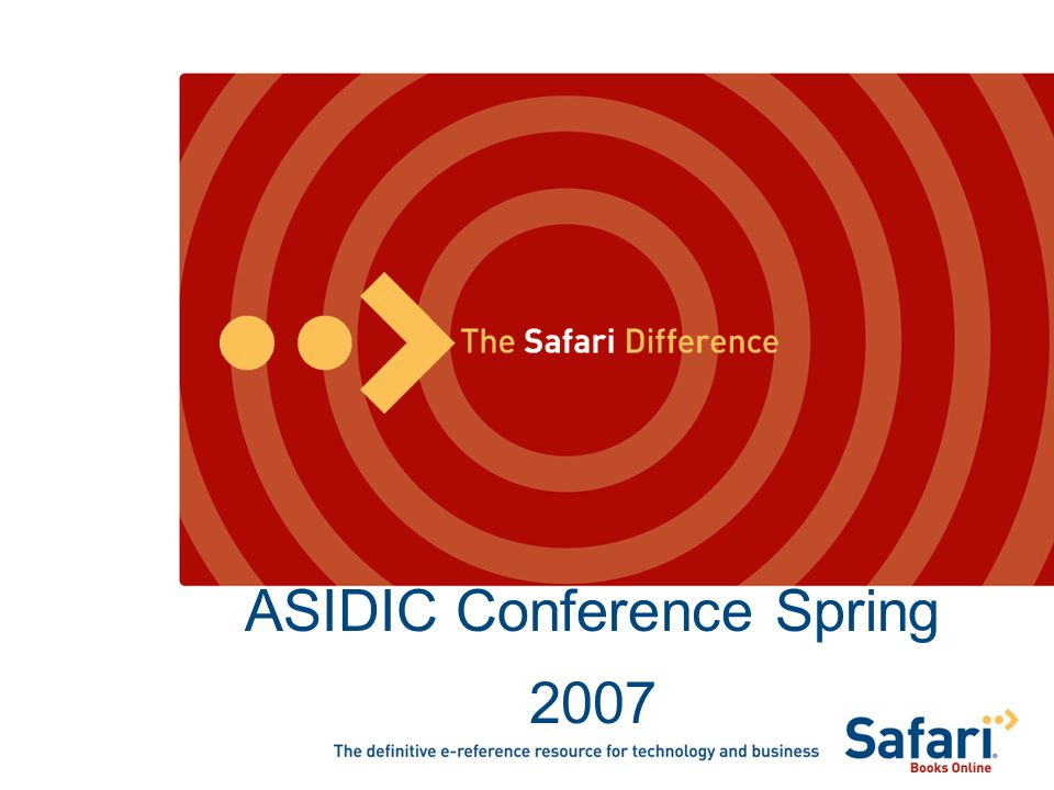 ASIDIC Conference Spring 2007