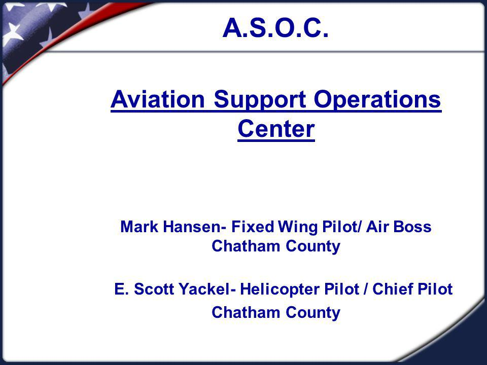 ASOC: Who, What, Where, Why Search and Rescue Operations: Post Hurricane Chatham County