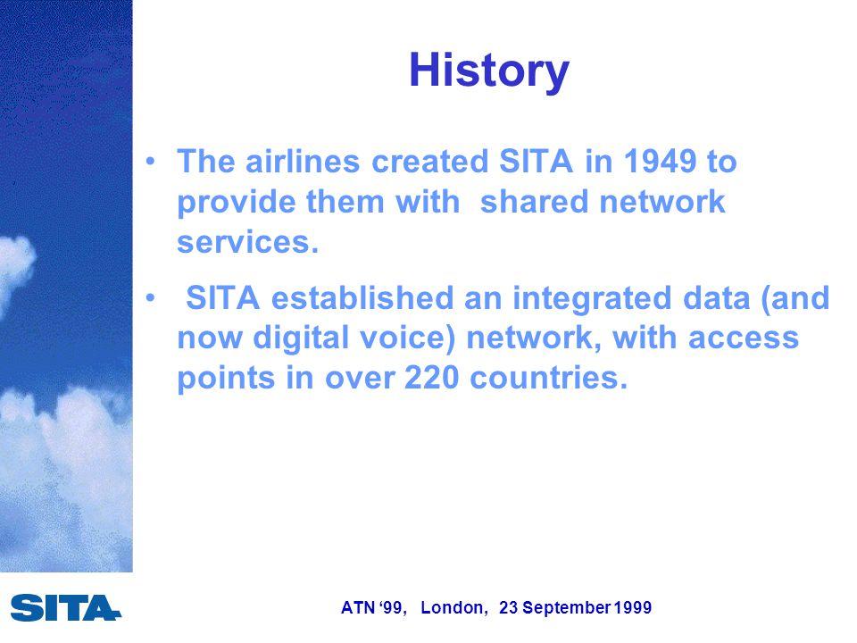 ATN '99, London, 23 September 1999 Future of SITA Datalink Capacity - VDL.