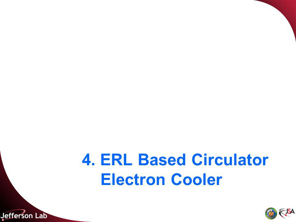 4. ERL Based Circulator Electron Cooler