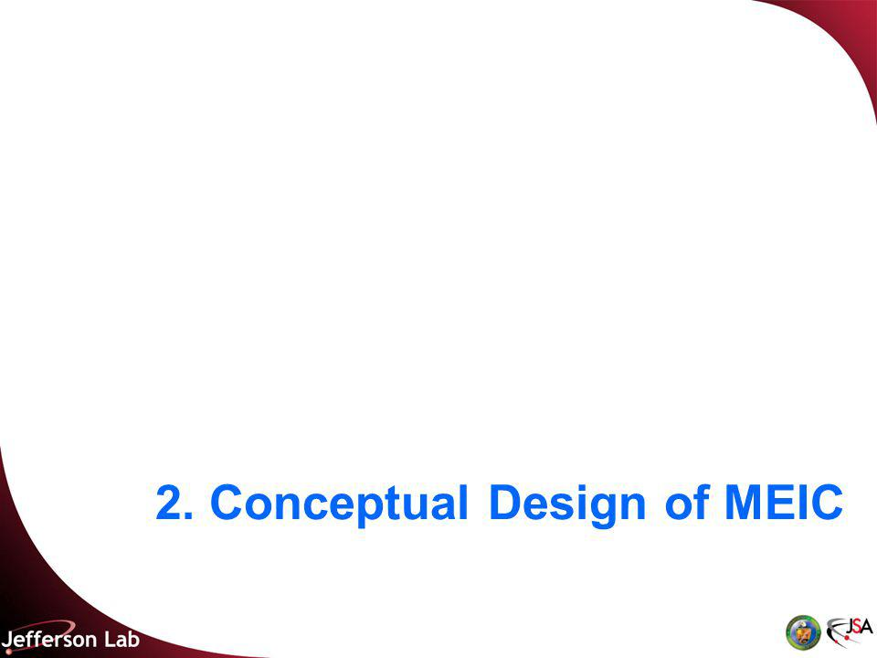 2. Conceptual Design of MEIC