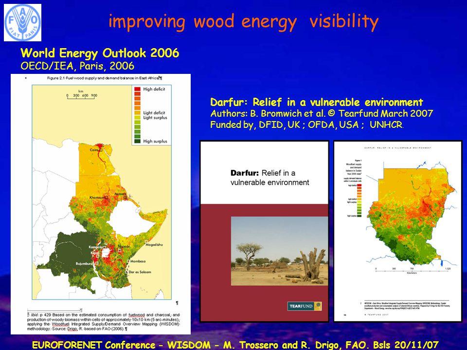 EUROFORENET Conference - WISDOM - M. Trossero and R. Drigo, FAO. Bsls 20/11/07 World Energy Outlook 2006 OECD/IEA, Paris, 2006 Darfur: Relief in a vul