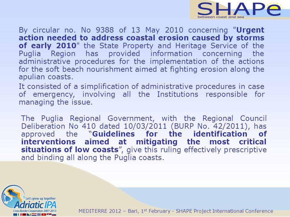 By circular no. No 9388 of 13 May 2010 concerning