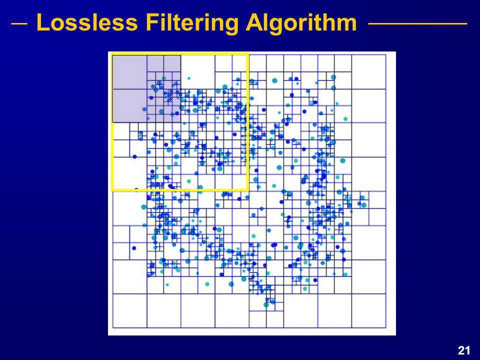 21 Lossless Filtering Algorithm
