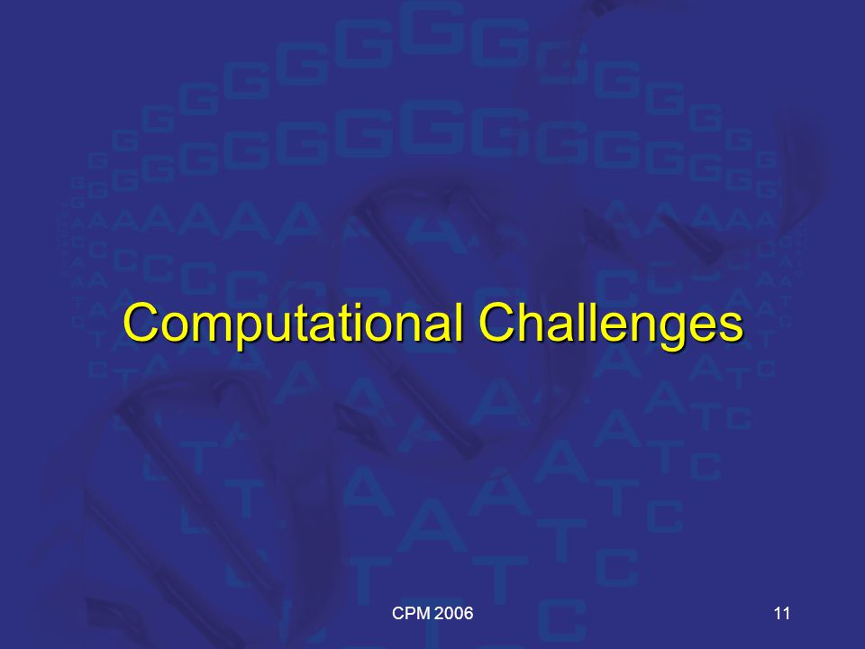 CPM 200611 Computational Challenges
