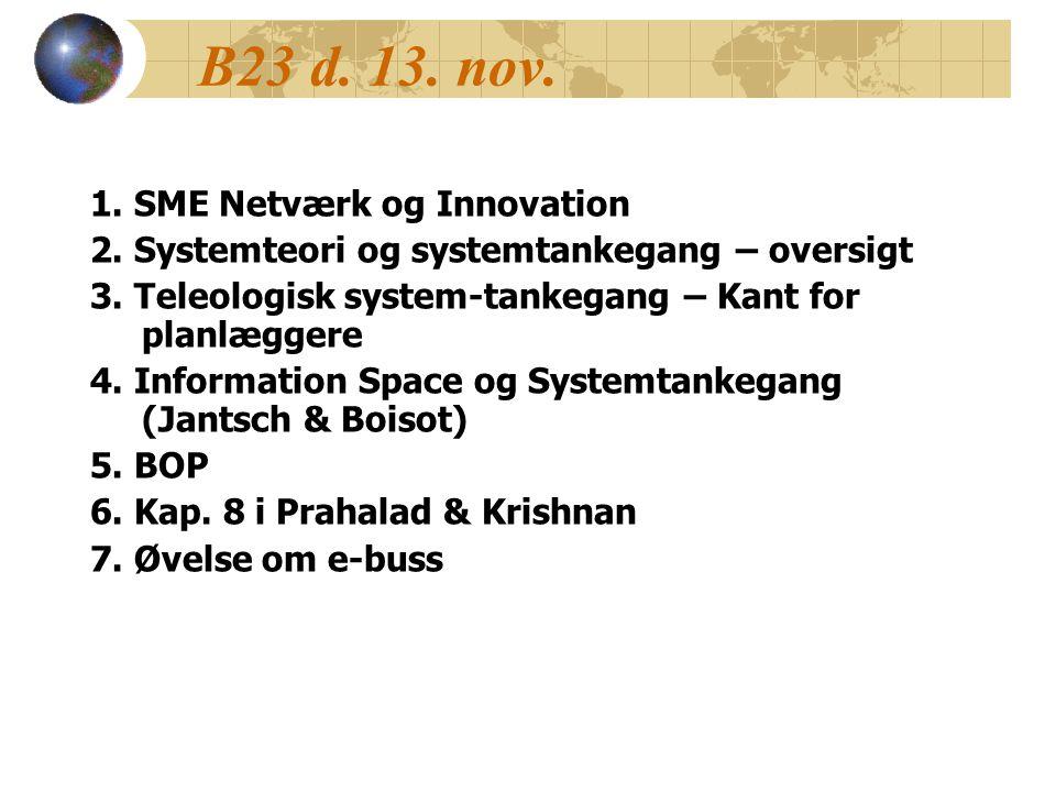 B23 d. 13. nov. 1. SME Netværk og Innovation 2.
