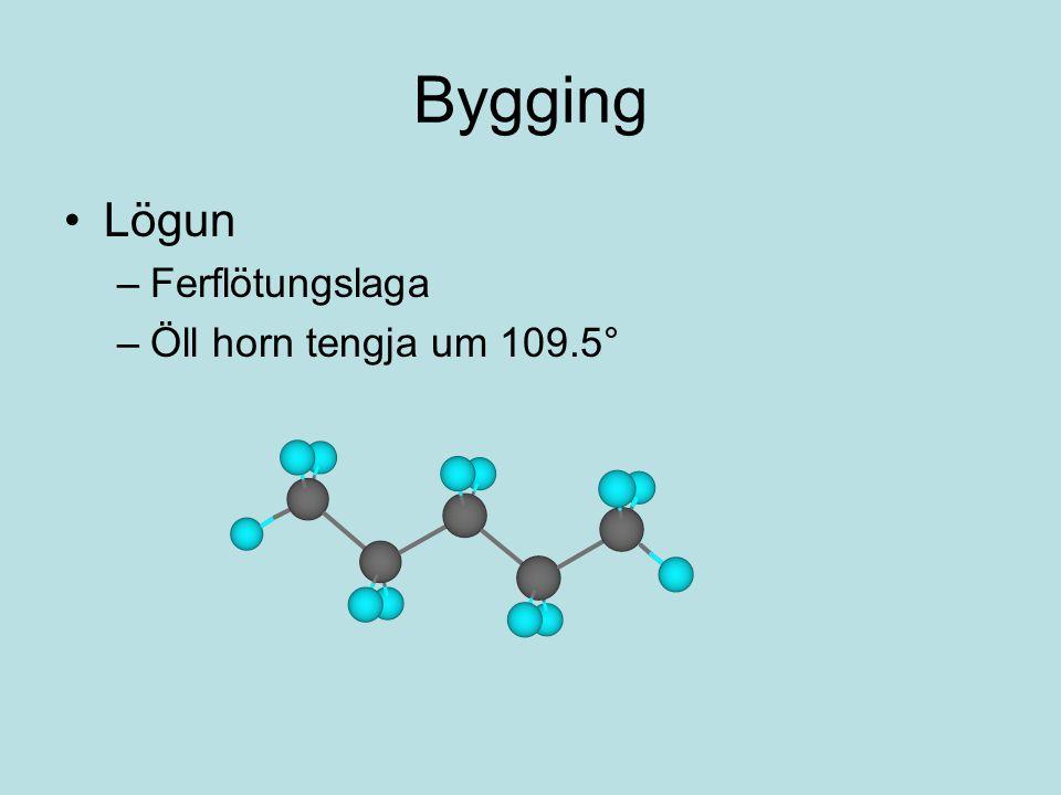 Bygging Lögun –Ferflötungslaga –Öll horn tengja um 109.5°