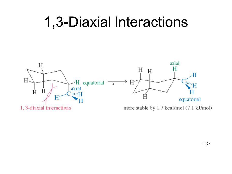 1,3-Diaxial Interactions =>