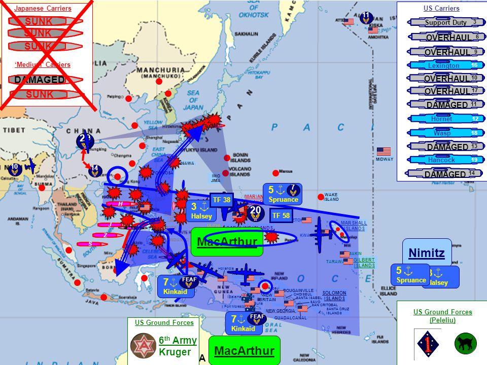 A U S T R A L I A MARIANA ISLANDS GUAM TINIAN SAIPAN IWO JIMA WAKE ISLAND MARSHALL ISLANDS GILBERT ISLANDS KWAJALEIN TARAWA MAKIN ENIWETOK CAROLINE ISLANDS TRUK PALAU ISLANDS ULITHI YAP PHILIPPINE ISLANDS LUZON LEYTE MINDANAO Rabaul NEW BRITAIN BOUGAINVILLE SOLOMON ISLANDS GUADALCANAL Buna Port Moresby Salamaua Lae CHOISEUL SANTA ISABEL NEW GEORGIA ADMIRALTY IS.