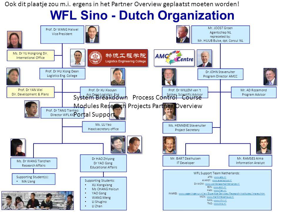 WFL Sino - Dutch Organization Prof. Dr WANG Haiwei Vice President Prof.