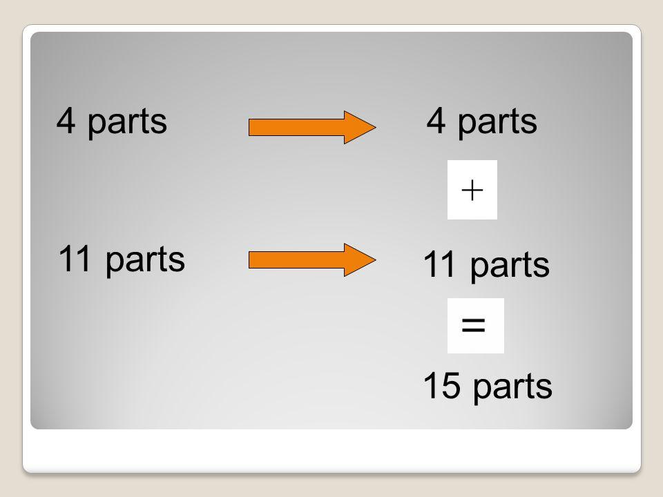 11 parts 4 parts 11 parts 15 parts