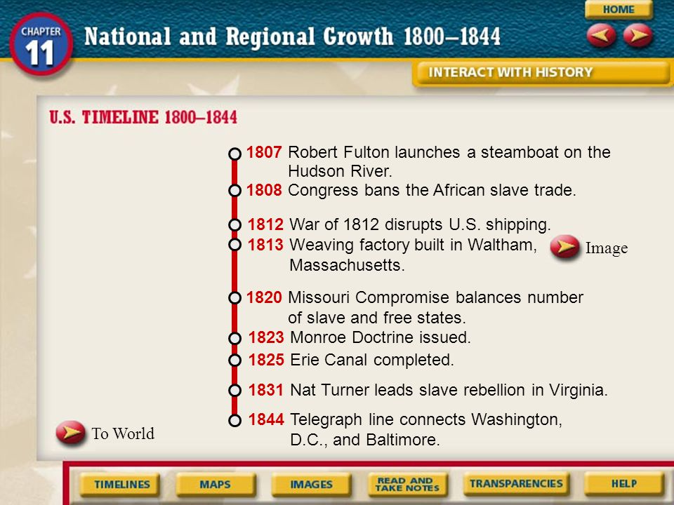 Chapter 11 National & Regional Growth In this chapter we will learn how new inventions influenced the growth and development of the United States; cau
