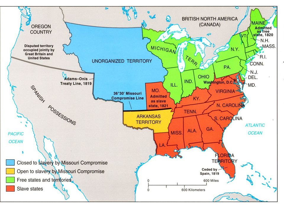 Missouri Compromise Angry Southerners said Congress didn't have the power to ban slavery and each state had the right to have slaves if they wished.An