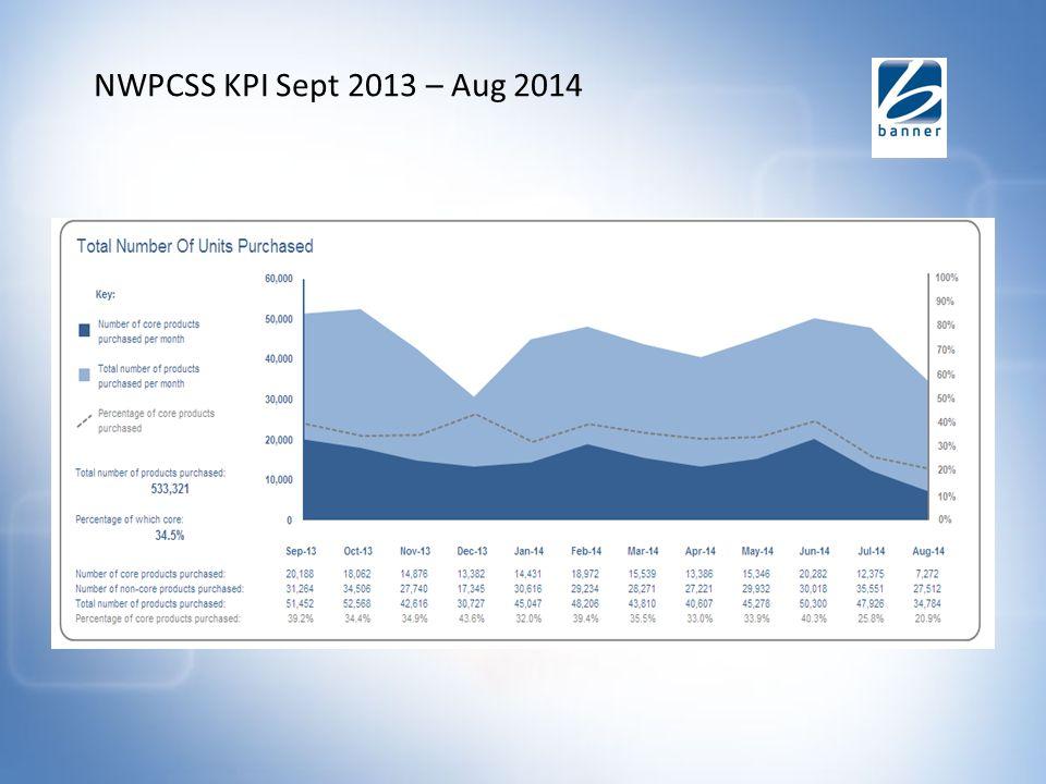NWPCSS KPI Sept 2013 – Aug 2014