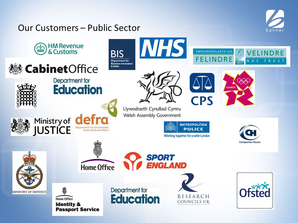 Our Customers – Public Sector
