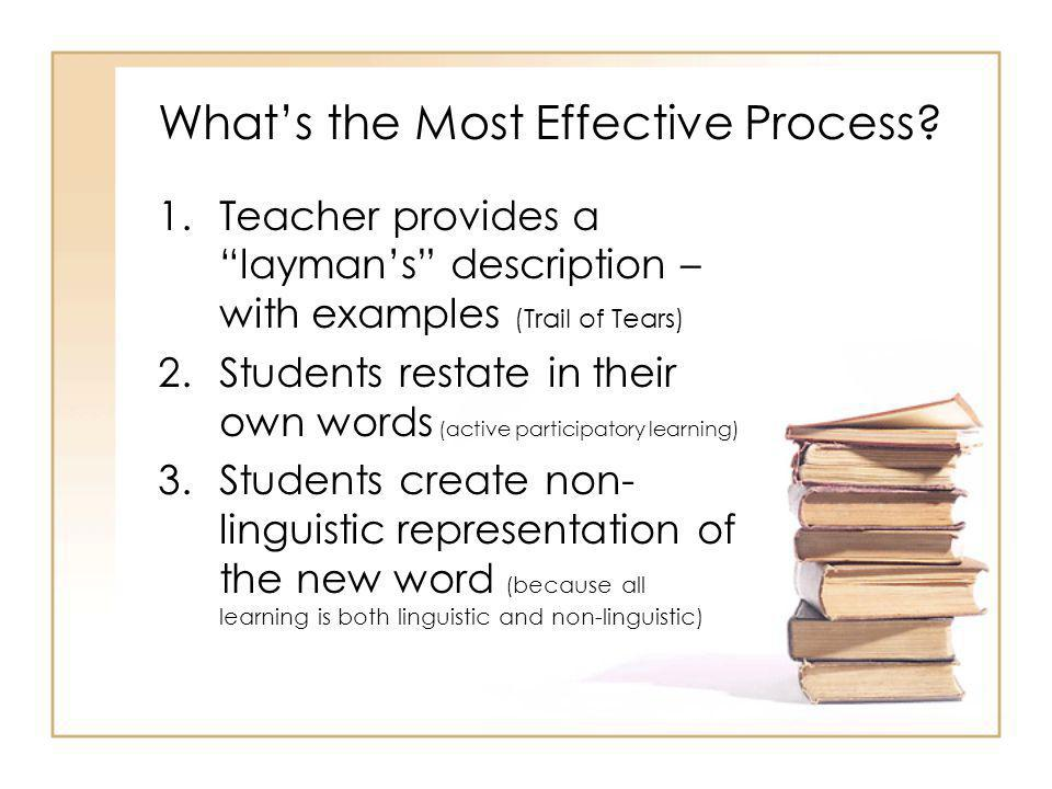 What's the Most Effective Process.