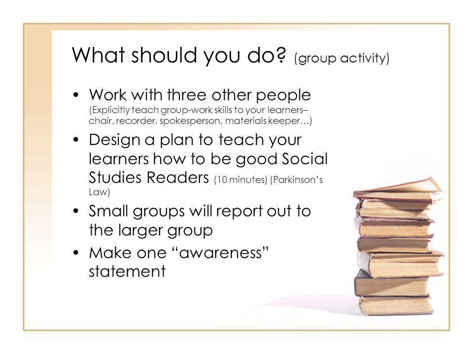 Traits of effective Social Studies Teachers They want students to go deeply into content They want their students to go beyond the material Are willing to explicitly teach reading strategies that will enhance their student's abilities to learn