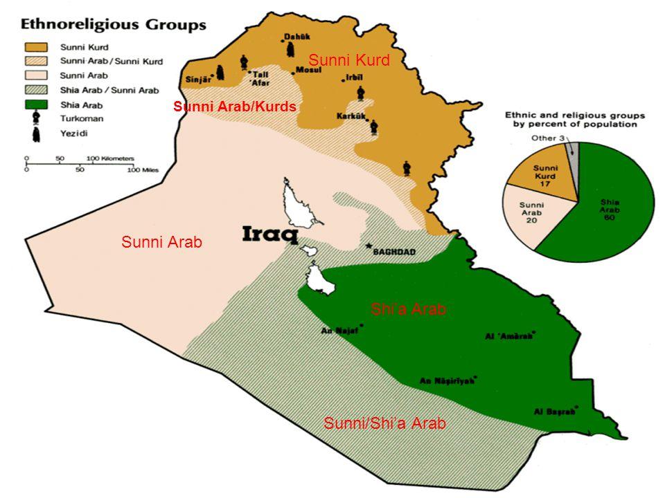 Sunni Arab Shi'a Arab Sunni Kurd Sunni/Shi'a Arab Sunni Arab/Kurds