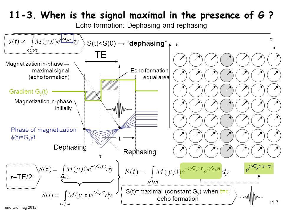 Fund BioImag 2013 11-7 Dephasing Rephasing TE y x 11-3.