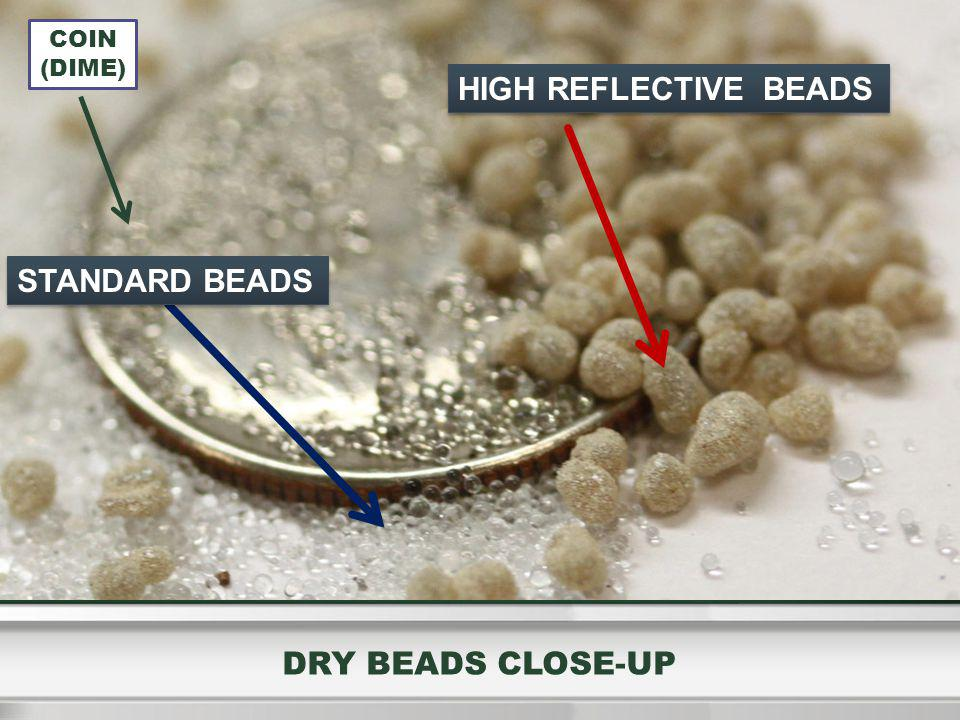 HIGH REFLECTIVE BEADS DRY BEADS CLOSE-UP COIN (DIME) STANDARD BEADS
