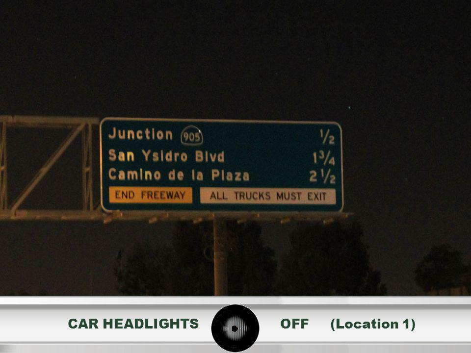 CAR HEADLIGHTS OFF (Location 1)