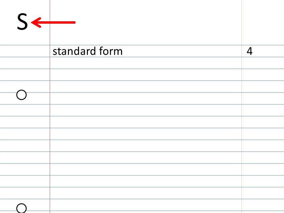 S standard form4