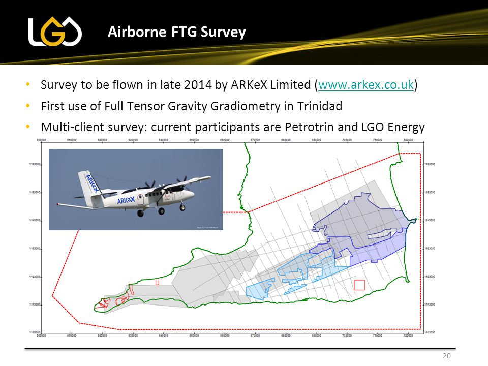 Airborne FTG Survey 20 Installing new well tanks Survey to be flown in late 2014 by ARKeX Limited (www.arkex.co.uk)www.arkex.co.uk First use of Full T