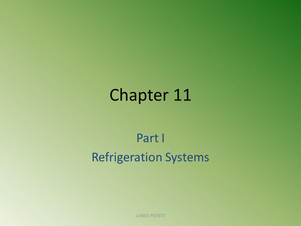 Chapter 11 Part I Refrigeration Systems LANES POINTS