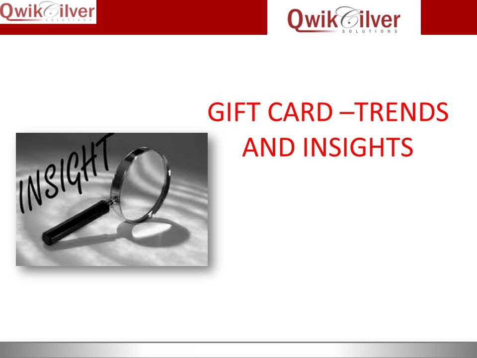 GIFT CARD –TRENDS AND INSIGHTS