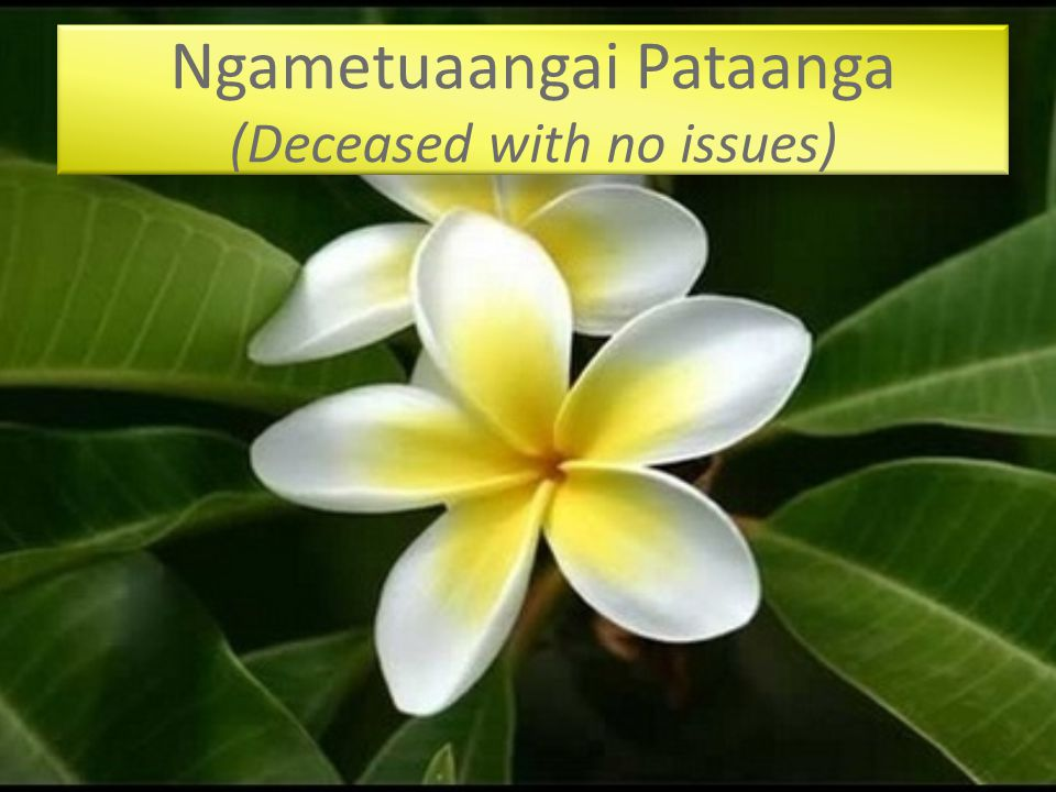 Ngametuaangai Pataanga (Deceased with no issues)