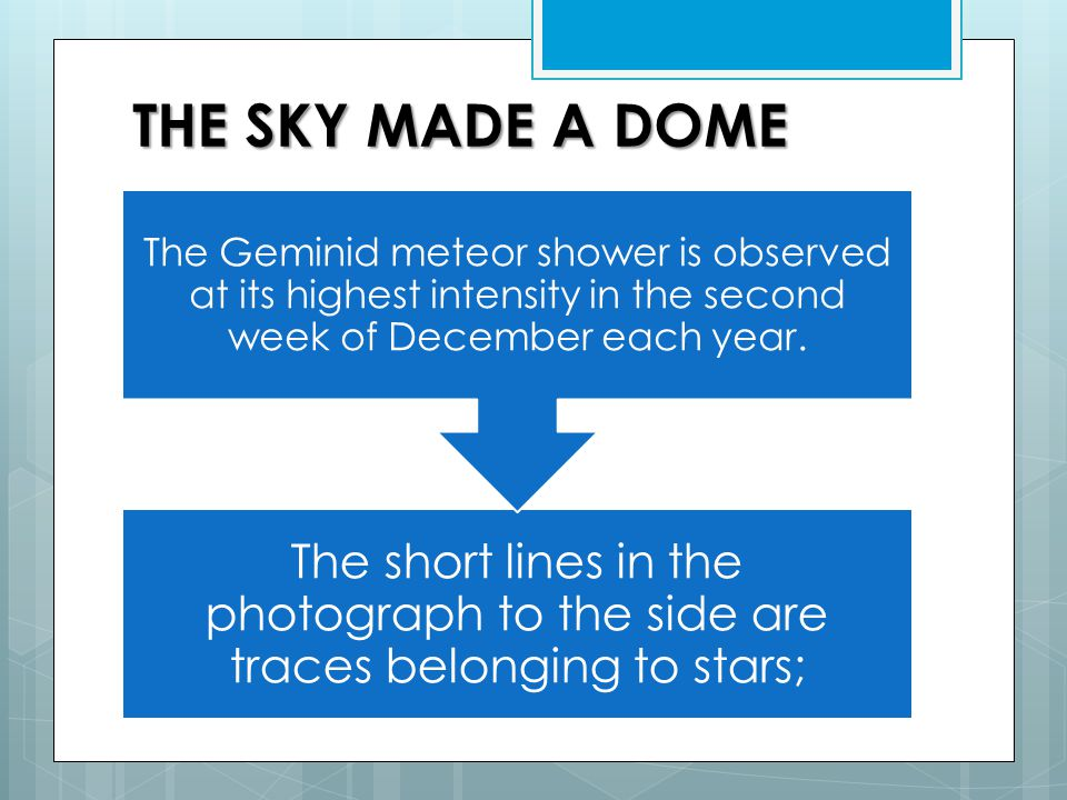 THE SKY MADE A DOME