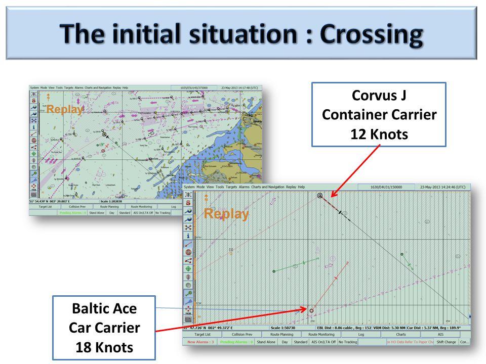 Corvus J Container Carrier 12 Knots Baltic Ace Car Carrier 18 Knots