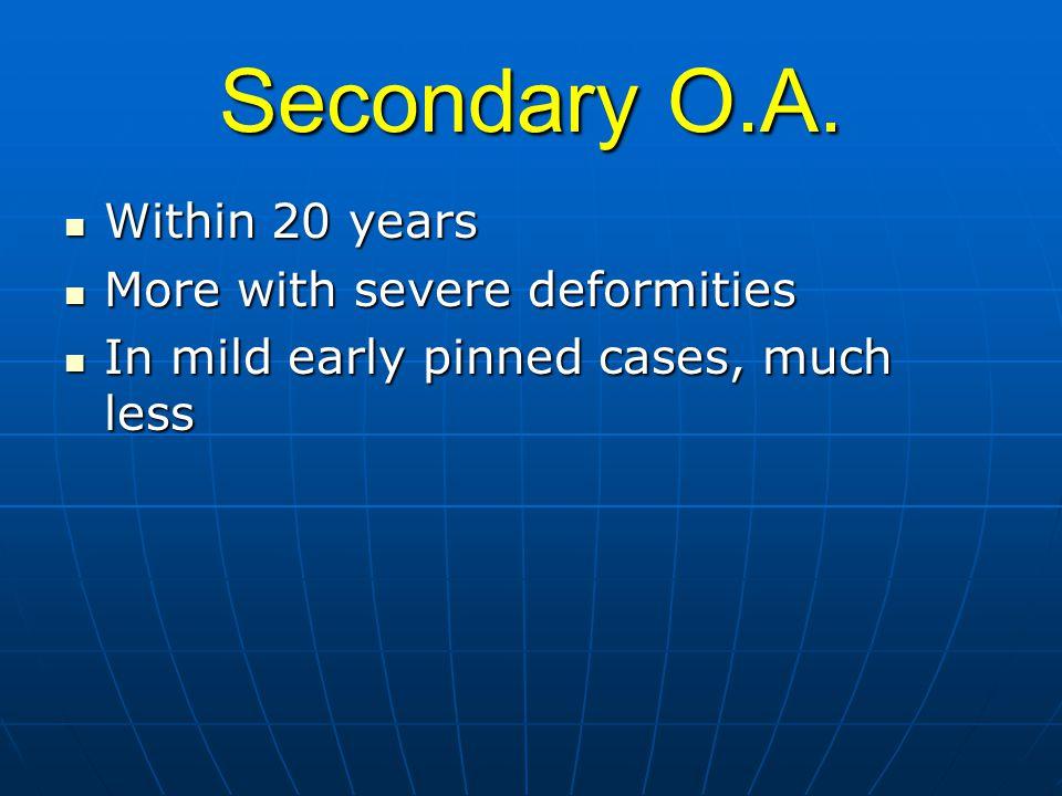 Secondary O.A.