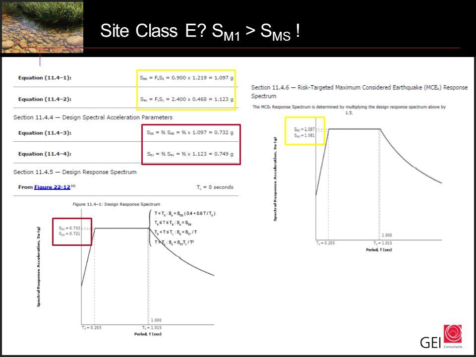 Site Class E? S M1 > S MS !