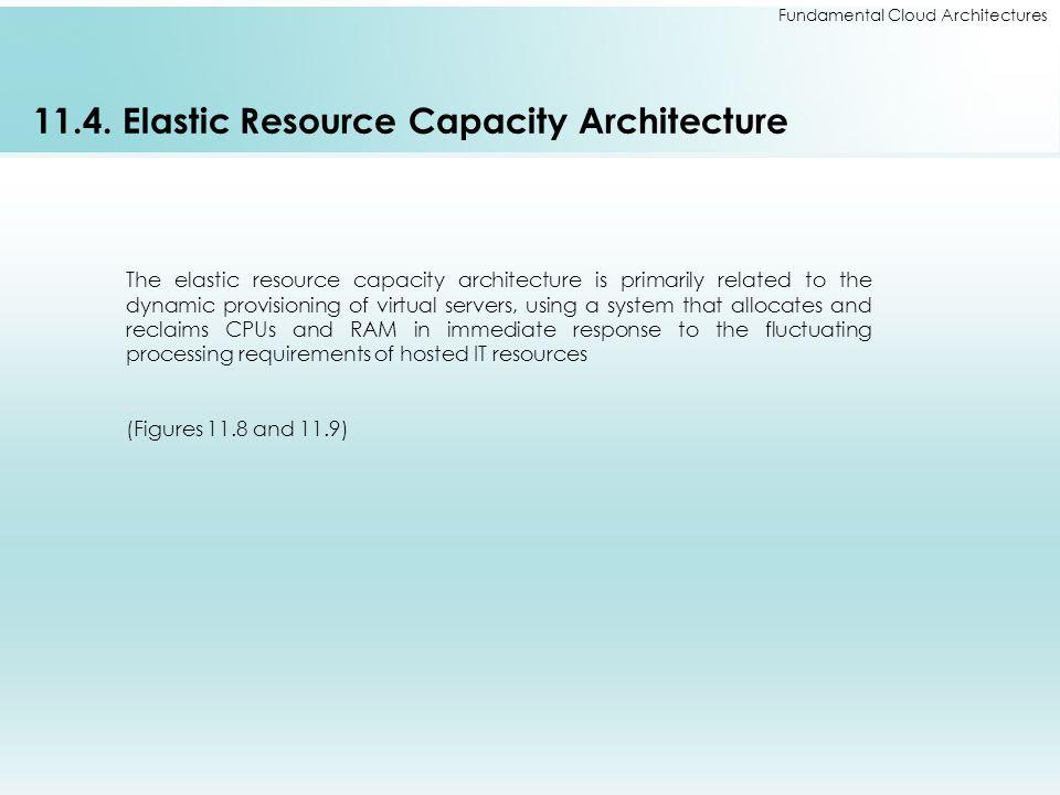 Fundamental Cloud Architectures 11.4. Elastic Resource Capacity Architecture The elastic resource capacity architecture is primarily related to the dy
