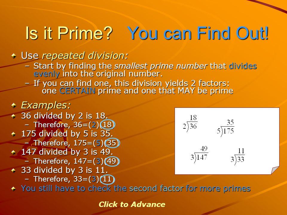 Is it Prime.