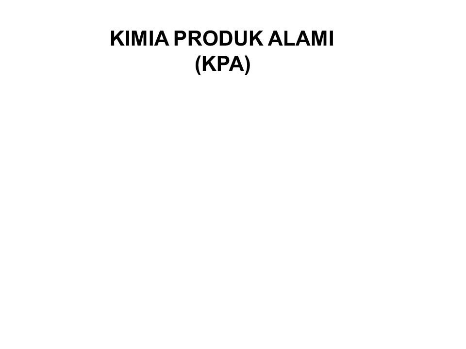 KIMIA PRODUK ALAMI (KPA)