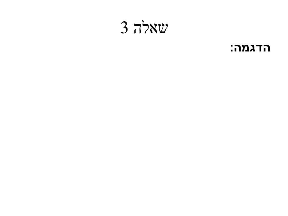 שאלה 3 הדגמה :